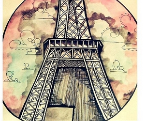 beautiful, drawings, and eiffel tower image