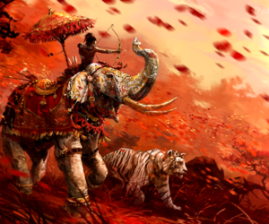 elephant and tiger image