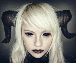blond, demon, and girl image