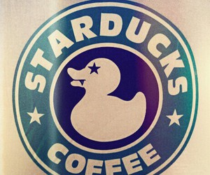 duck, starbucks, and starducks image