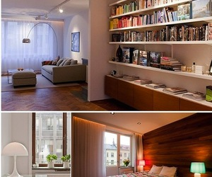 apartment, beautiful, and books image