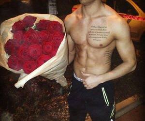 rose, boy, and sexy image