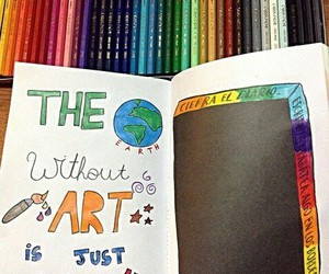 art, wreckthisjournal, and colors image