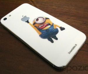 minions, apple, and case image