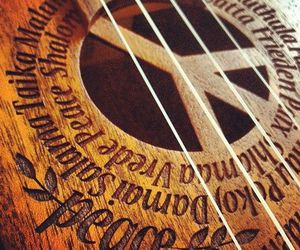 peace, guitar, and music image