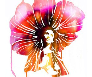 art, watercolor, and flower image