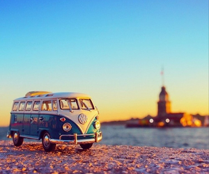 car, travel, and beach image