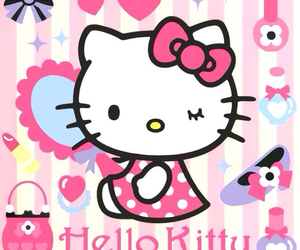 hello kitty, sanrio, and kitty image
