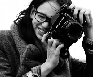 black and white, camera, and glasses image