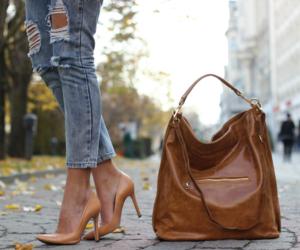 bag, fashion, and high heels image