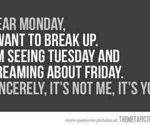 funny, monday, and quotes image