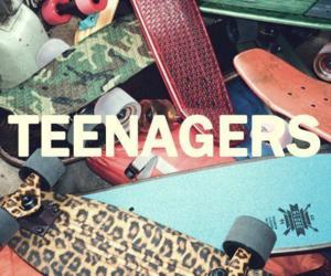 teenager, skate, and skateboard image