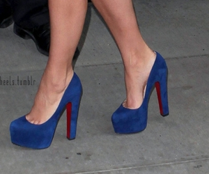 blue, heels, and fashion image