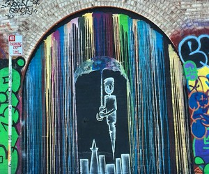 art, city, and rain image