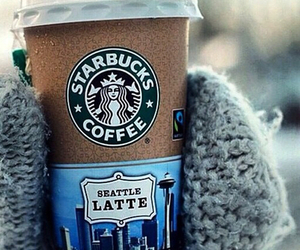 starbucks, coffee, and winter image