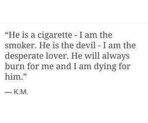 quote, love, and cigarette image