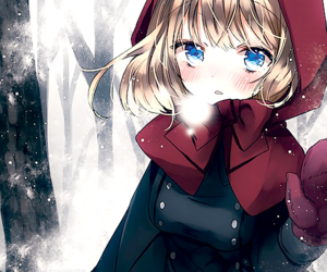 anime, snow, and winter image