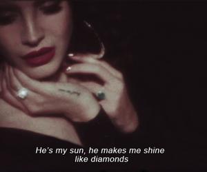 lana del rey, diamond, and quotes image