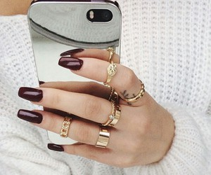 nails, iphone, and rings image