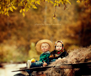 cute, autumn, and child image
