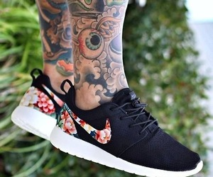 nike, tattoo, and shoes image