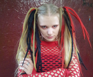 blonde, cybergoth, and industrial dance image