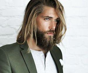 beard, long hair, and model image