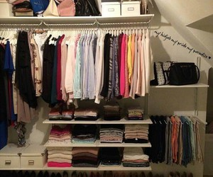 closet, decor, and fashion image