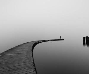art, black and white, and nature image