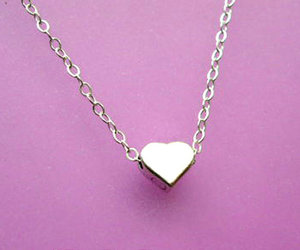heart, silver, and cute image