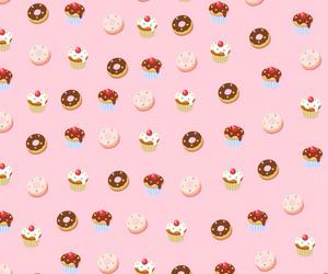 background, cake, and girl image