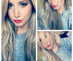 ashley tisdale and red lips image