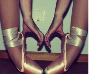 ballerinas, ballet, and balletshoes image