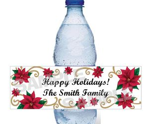 bottle, christmas, and flower image