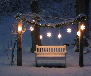 bench, christmas, and festive image