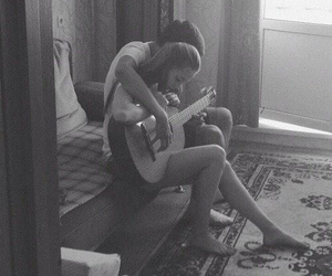 guitar, couple, and love image