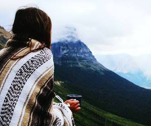 mountains, coffee, and travel image