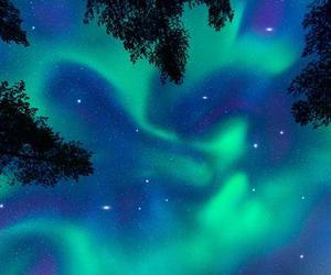 northern lights, sky, and night image