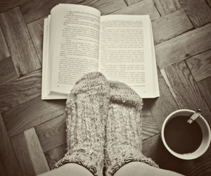 book, cold, and socks image
