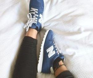 blue, shoes, and new balance image