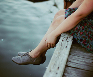 girl, vintage, and shoes image