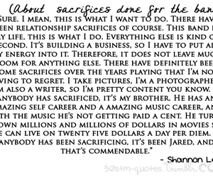 quote, shannon leto, and 30 seconds to mars image