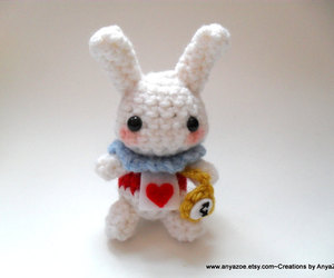 alice in wonderland, amigurumi, and white rabbit image