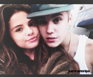 couple, selena gomez, and justin bieber image