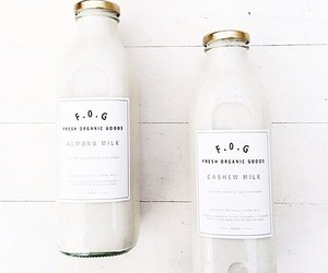 drink, white, and milk image
