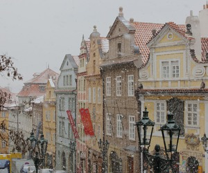 prague, snow, and winter image