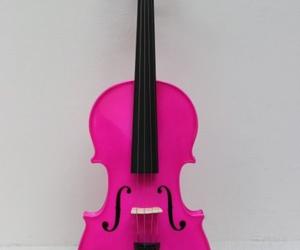 music, pink, and violin image