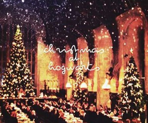 snow, christmas, and harry potter image