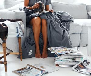 magazine and girl image