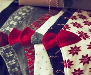 christmas, socks, and fashion image